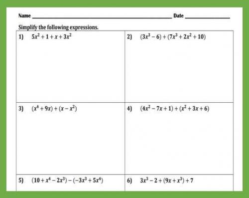 Adding and Subtracting Polynomials Worksheet   Peertopia
