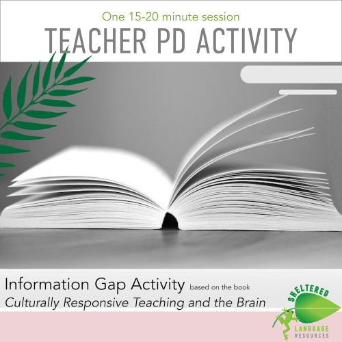 Teacher PD based on Culturally Responsive Teaching and The Brain