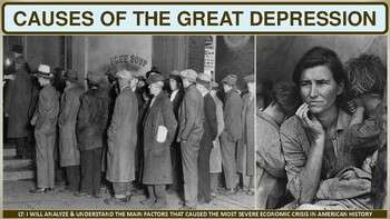Cause of the Great Depression Activity for U.S. History