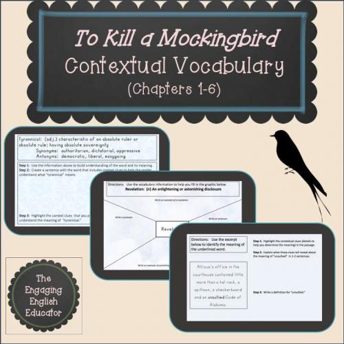 To Kill a Mockingbird Contextual Vocabulary (Chapters 1-6)