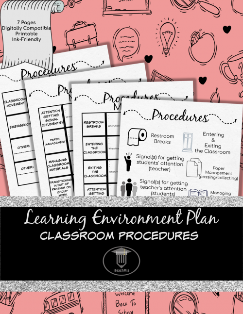 Learning Environment Plan - Classroom Procedures