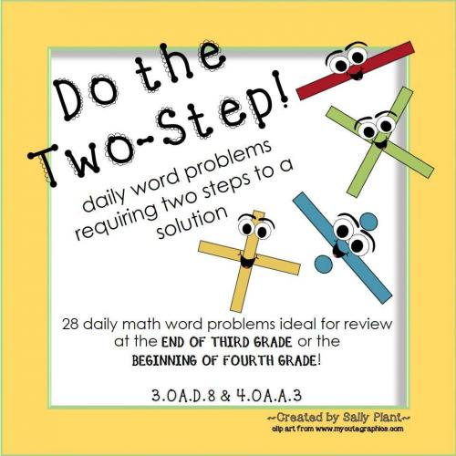 Two Step Word Problems for Third Grade