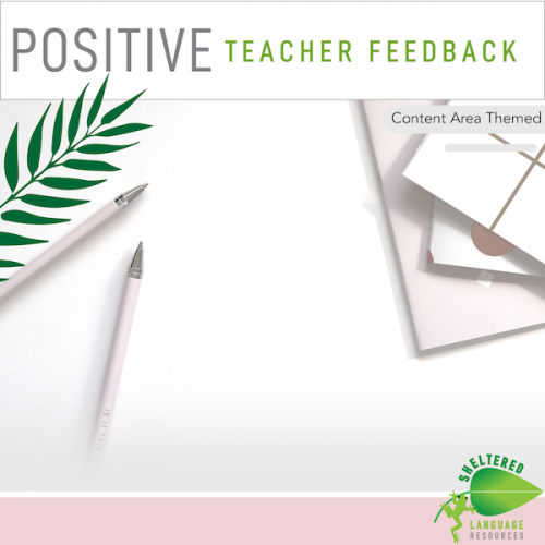 Positive Teacher Feedback and Observation Forms: Content Area Themed