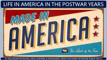 Postwar Years in America (1945-1960) Activity for U.S. History