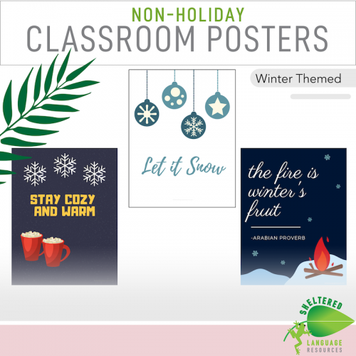 7 Non holiday classroom decor poster winter themed