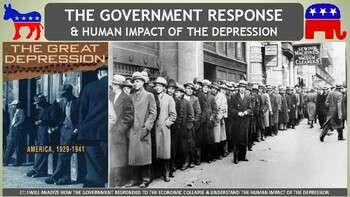 The Great Depression: Government Response & Human Impact PP Notes for U.S. History