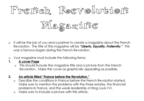 French Revolution Magazine