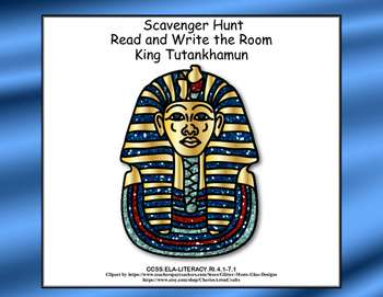 King Tut-Ancient Egyptian History-Scavenger Hunt- Read and Write The Room