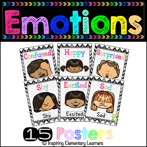 Feelings and Emotions Posters ***CACTUS THEME***