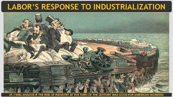 Labor's Response to Industrialization Activity for U.S. History
