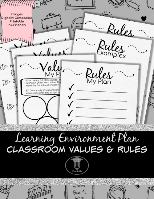 Learning Environment Plan - Values & Rules