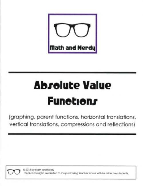 Absolute Value Transformations Investigation and Practice