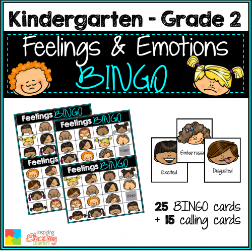 Feelings BINGO K-2
