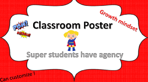 Super Agent (Growth Mindset) Poster