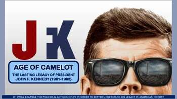 Age of Camelot: The JFK Years Activity for U.S. History