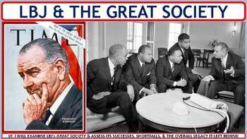Lyndon Johnson & the Great Society (1964-1968) Activity for U.S. History Classes