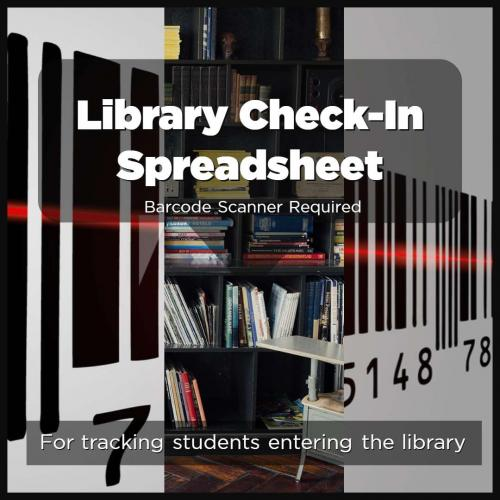 Library Check-In Spreadsheet - Barcode Scanner Required