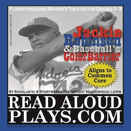 Jackie Robinson Black History Reader's Theater Classroom Play Script