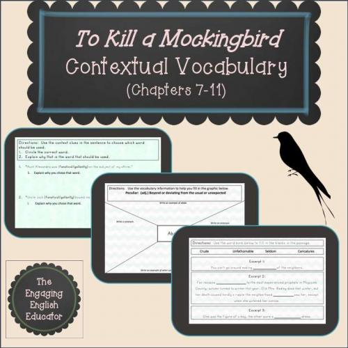 To Kill a Mockingbird Contextual Vocabulary (Chapters 7-11)