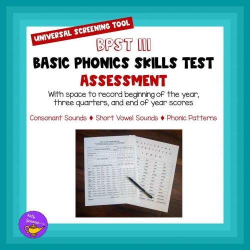 Back to School-Phonics Assessment