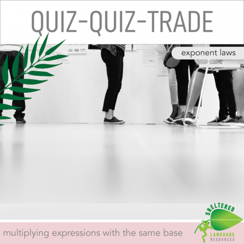 Quiz Quiz Trade Exponent Laws Multiplying With The Same Base