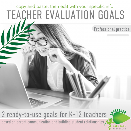 Ready-to-use Teacher Professional Practice Goals for K-12 Teachers